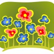 Green flowers background — Stock Photo #38196123