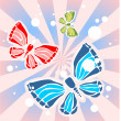 Butterflies and beams — Stock Photo #38196251