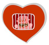 Heart prison — Stock Photo