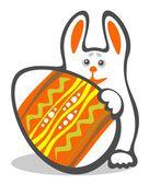 Bunny ve paskalya yortusu yumurta — Stok fotoğraf