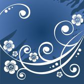 Dark blue flower background — Stock Photo