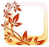 красная цветочная рамка — Стоковое фото