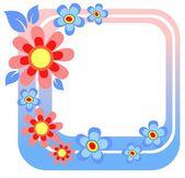 Blue flower frame — Stock Photo