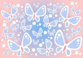 Butterflies background — Stock Photo