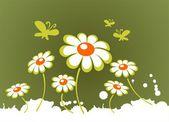Flores da Primavera ornamentado — Fotografia Stock