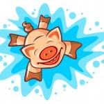 Happy pig — Stock Vector #47878377