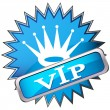 Stock Vector: Button labeled VIP