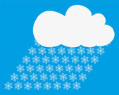 Snow clouds — Stock Vector