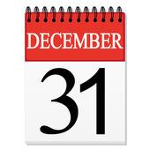 Sheet calendar (December 31) — Stock Vector