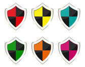 Set of shields — Stock Vector