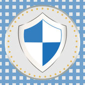 Blue-and-white shield — Stock Vector
