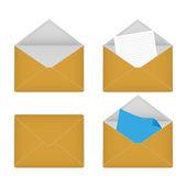 Four envelopes — Stock Vector