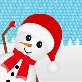 Snowman — Vettoriale Stock