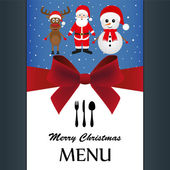 Special Christmas menu — Stock Vector