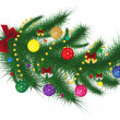 Royalty-Free Stock Vector Image: Dressed Christmas tree