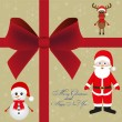Christmas card invitation - Stockvectorbeeld