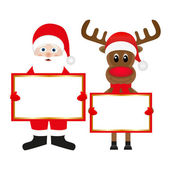 Scientology Claus and Christmas reindeer — Stock Vector