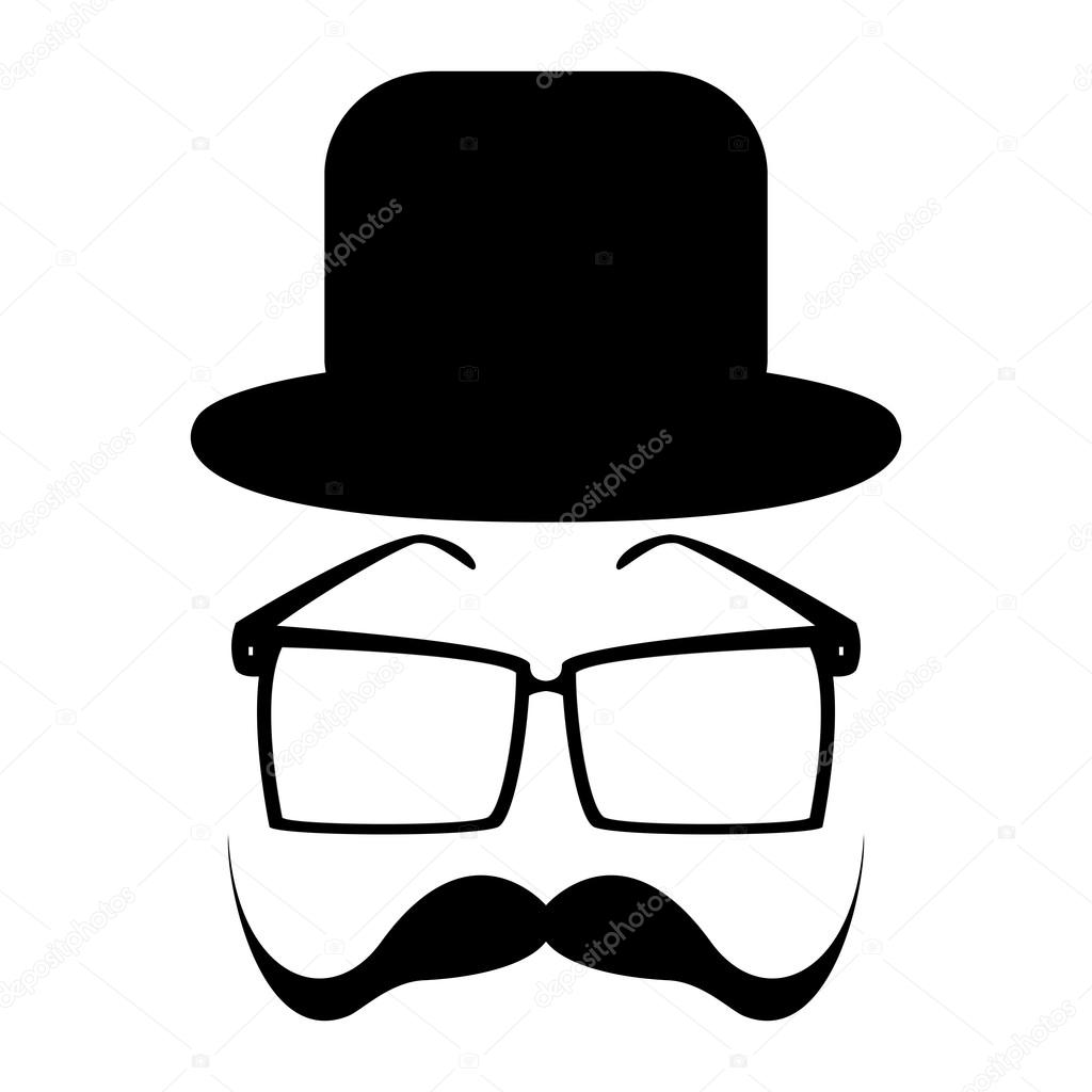 Mustache, glasses and a hat — Stock Vector #17387957