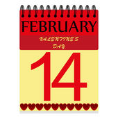 February 14 on the calendar — Stock Vector