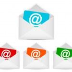 Конверты с символом электронной почты — Cтоковый вектор
