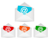Envelopes with email symbol — Stock Vector