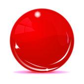 Boule rouge — Vecteur
