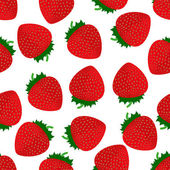 Seamless pattern of strawberry — Stock Vector