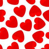 Kırmızı kalplerin sorunsuz arka plan — Stok Vektör
