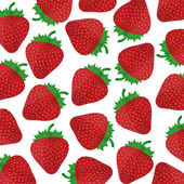 Background of ripe strawberries — Stock Vector