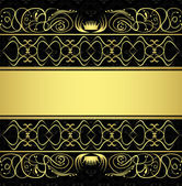 Seamless pattern and gold ornaments — ストックベクタ