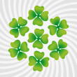 Clover symbol of St. Patrick's Day — Stock Vector