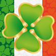St. Patrick's Day symbol on the flag of Ireland — Stock Vector