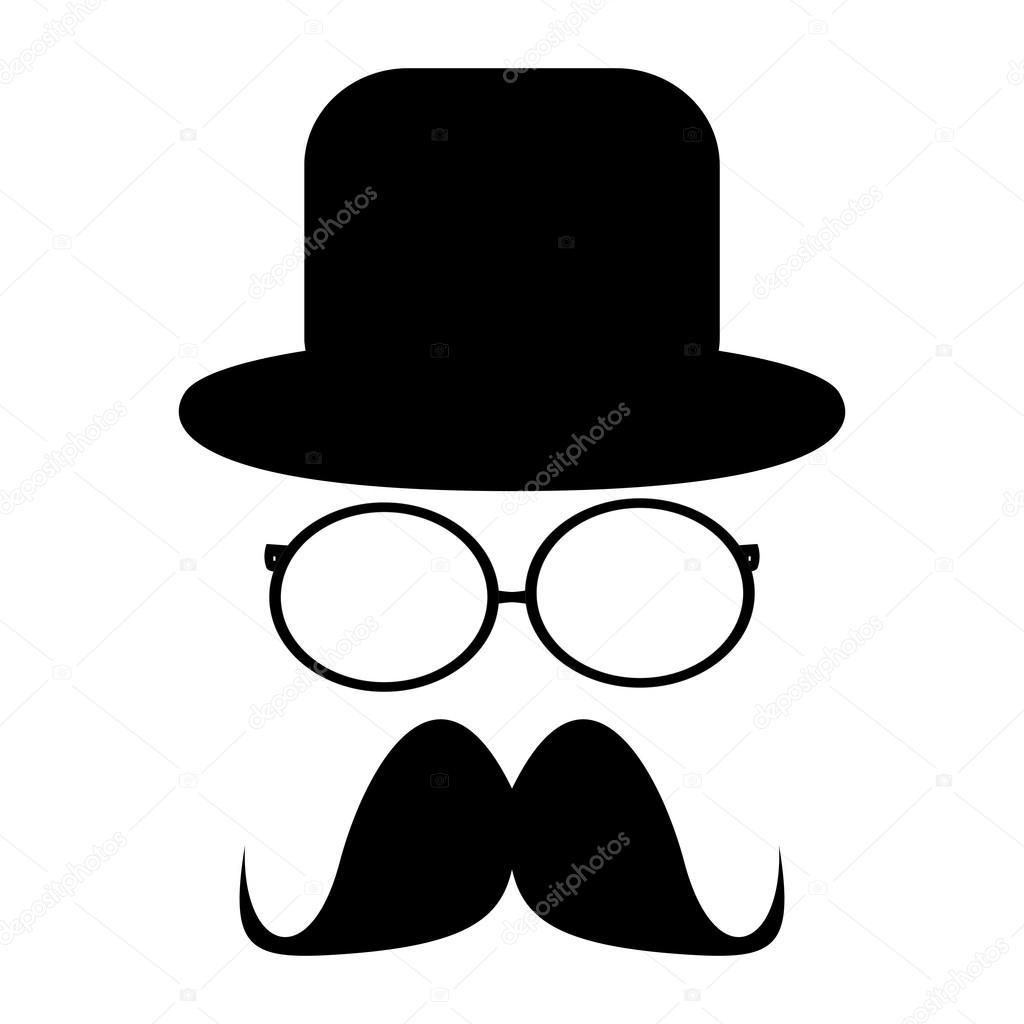 Mustache, glasses and a hat — Stock Vector #20009309