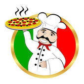 Chef pizza — Stock Vector