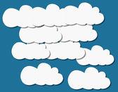 Wzory chmury papieru — Wektor stockowy