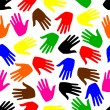Royalty-Free Stock Obraz wektorowy: Seamless background. colored hands