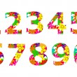 Numbers on a white background - Imagen vectorial