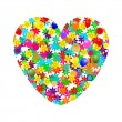 Royalty-Free Stock Vector Image: Heart of flowers and balloons