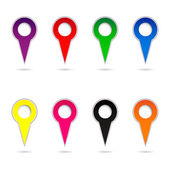 Collection of color arrows — Stock Vector