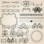 Calligraphic design elements and page decoration — 图库矢量图片