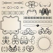 Elementi di disegno calligrafico e decorazione di pagina — Vettoriale Stock