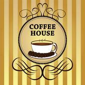 Kaffeehaus — Stockvektor