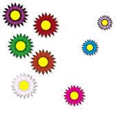 Tło papier kwiatów — Wektor stockowy