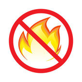 No fire — Stock Vector