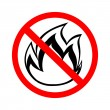 Stock Vector: No fire