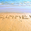"Stock Photo: Inscription ""summer"" on beach"