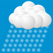 Snow icon. vector — Stockvectorbeeld