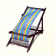 Lounger on the sand — Stock Photo