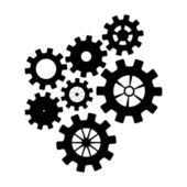 Black mechanisms — Stock Vector
