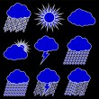 Weather Web vector Icons Set — Stok Vektör